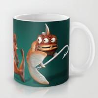 Evil fish mug